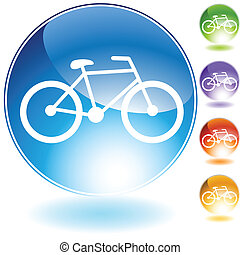 Bicycle Icon isolated on a white background.