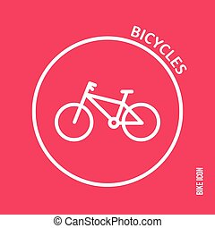 Bicycle icon on a red background