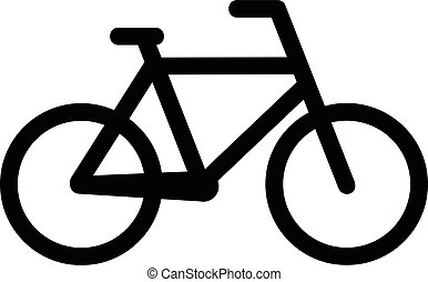 Bicycle icon on white background. Vector illustration eps 10