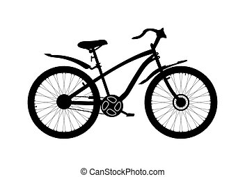 Bicycle icon on white background. Vector illustration