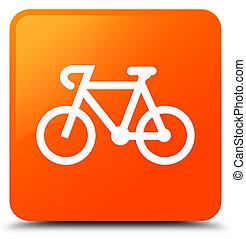 Bicycle icon orange square button