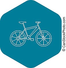 Bicycle icon, outline style