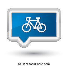 Bicycle icon prime blue banner button