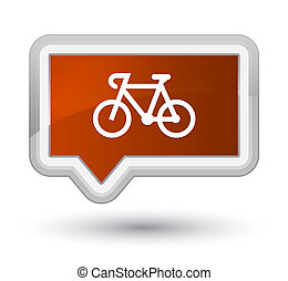 Bicycle icon prime brown banner button