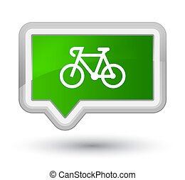 Bicycle icon prime green banner button
