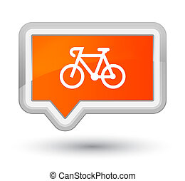 Bicycle icon prime orange banner button