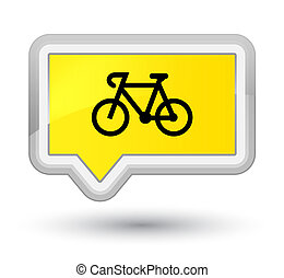 Bicycle icon prime yellow banner button