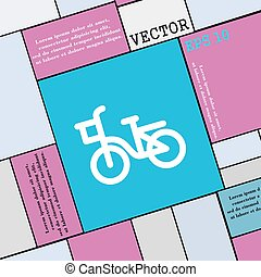 Bicycle icon sign. Modern flat style for your design. Vector