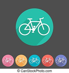 bicycle icon sign symbol logo label set
