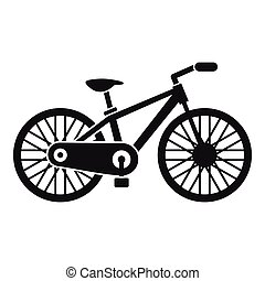 Bicycle icon, simple style