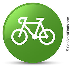 Bicycle icon soft green round button