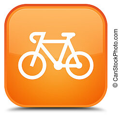 Bicycle icon special orange square button