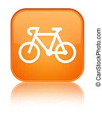 Bicycle icon special orange square button