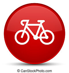 Bicycle icon special red round button