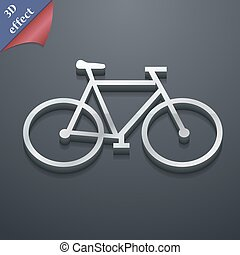 bicycle icon symbol. 3D style. Trendy, modern design with space for your text Vector