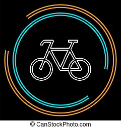 bicycle icon - vector bike illustration - sport