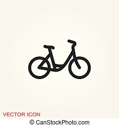 Bicycle icon. Vector element illustration on background.