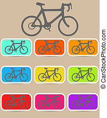 Bicycle icon. Vector