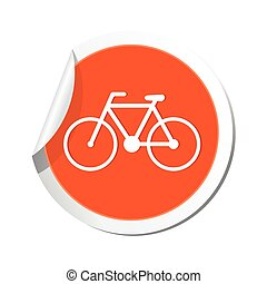 Bicycle icon. Vector illustration