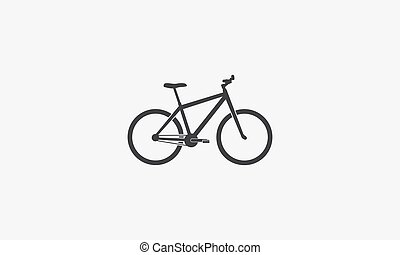 bicycle icon. vector illustration. isolated on white background.