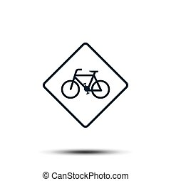 bicycle icon vector template. bike illustration flat design