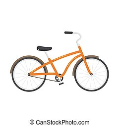 Bicycle illustration isolated on white background.