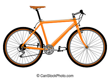 Bicycle illustration. - Realistic, detailed bicycle ...