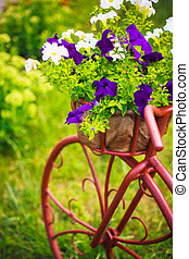Bicycle in a garden