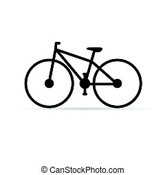 bicycle in black color illustration