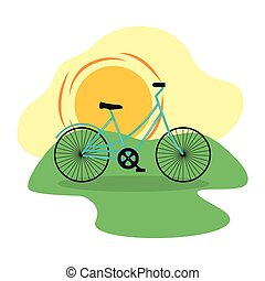 bicycle in the outdoors