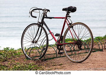 bicycle in the parking lot