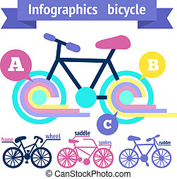 Bicycle infographic elements