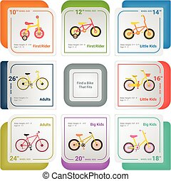 Bicycle Infographics Isolated On A White Background. Vector Illustration.