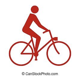 Bicycle isolated icon