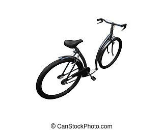 Bicycle isolated moto back view 01
