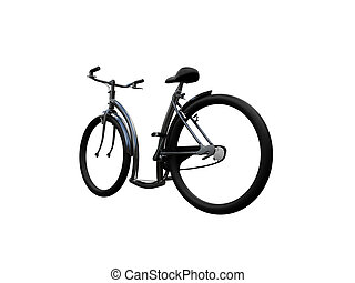 Bicycle isolated moto back view 02