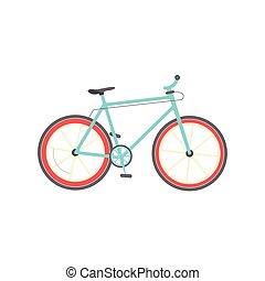 Bicycle isolated vector illustration, flat cartoon bike