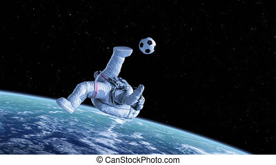 Bicycle Kick, Astronaut Shoots on Goal