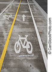 bicycle lane with separate lanes for each direction