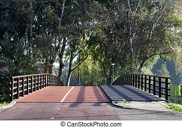 Bicycle lane bridge