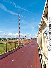 bicycle lane on a bridge