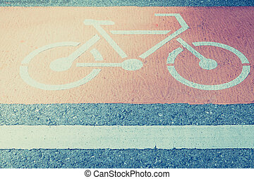 Bicycle lane on the road