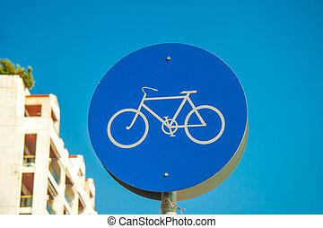Bicycle lane road