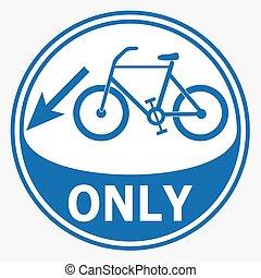Bicycle lane sign illustration
