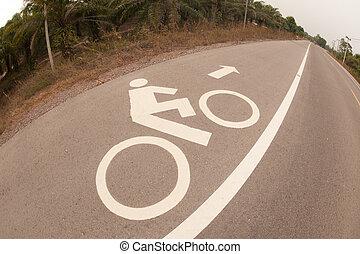 Bicycle lane .