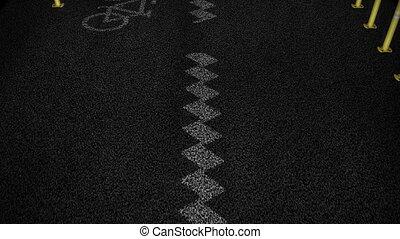 Bicycle lanes.