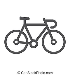 Bicycle line icon, transport and vehicle, bike sign vector graphics, a linear pattern on a white background, eps 10.