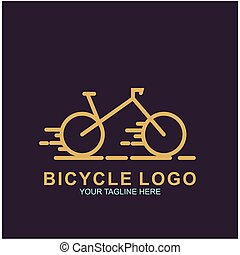 Bicycle logo design template
