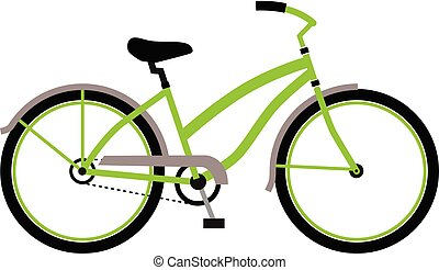 Bicycle logo in trendy design style