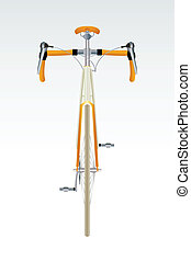 Modern cool sport bicycle front view